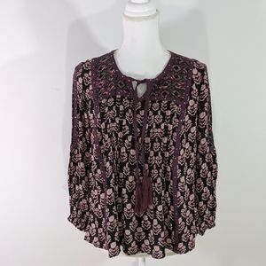 Style & Co Purple Poet Top